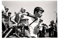 Les jeunes sont également de la fête avec leurs vélos customs. Horion-Hozémont, 2013.